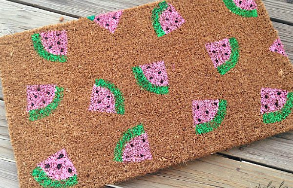 Make This Summery Watermelon Welcome Mat