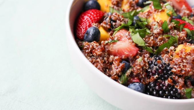 Sweet + Healthy: Berry And Basil Quinoa Salad